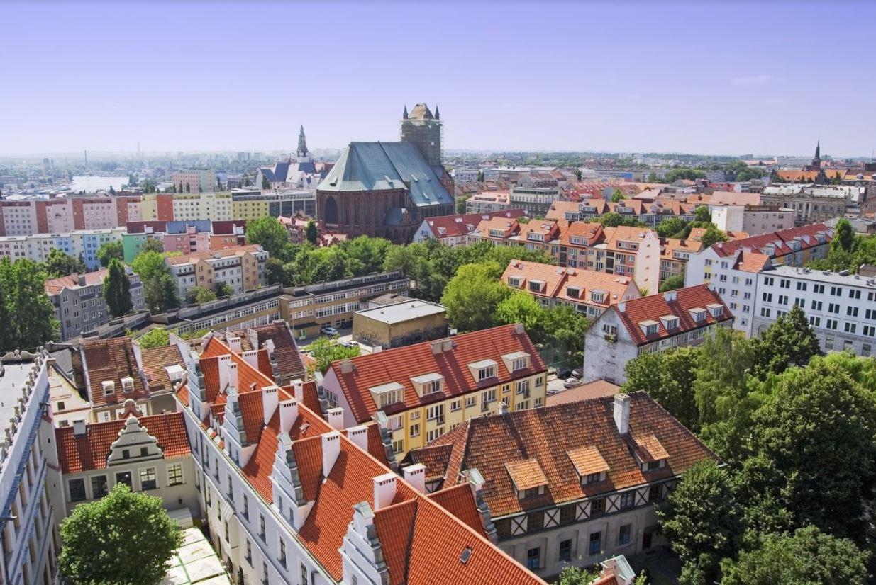 The city of Szczecin Poland by cruise
